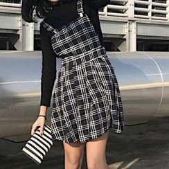 Dute - Plaid Jumper Dress