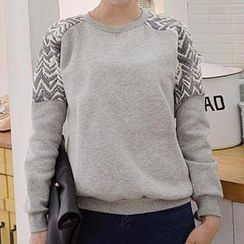 Lina - Long Sleeved Print Pullover