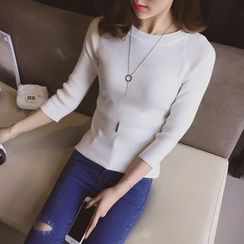 Cocofield - 3/4-Sleeve Knit Top