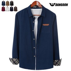 DANGOON - Plaid-Cuff Corduroy Shirt