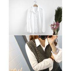 hellopeco - Long-Sleeve Cotton Shirt