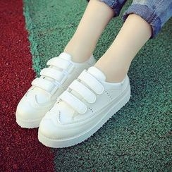 SouthBay Shoes - Velcro Platform Sneakers