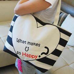 布布and包包 - 印图帆布手提包