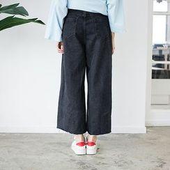 Happy Bird - Wide-Leg Cropped Jeans