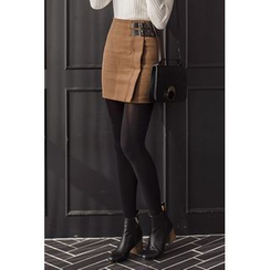 migunstyle - Belted-Detail Pencil Skirt