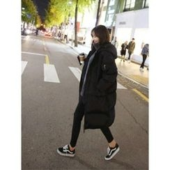 hellopeco - Hooded Zip-Up Padded Coat