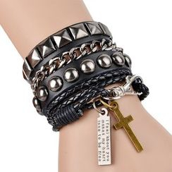 Trend Cool - Studded Layered Bracelet