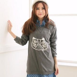 CatWorld - Cat-Print Long Top