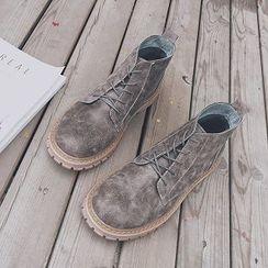 Troopers - 真皮短靴