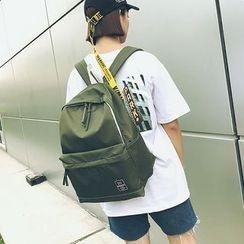 Risage - Plain Nylon Backpack