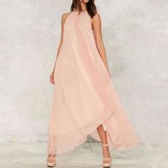 Obel - Sleeveless Chiffon Maxi Dress