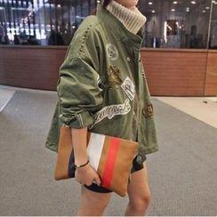 HAZEL - Beaded Applique Drawstring Jacket