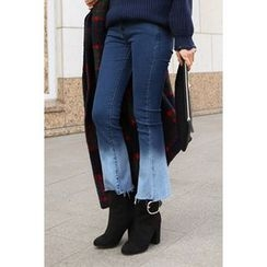 migunstyle - Washed Boot-Cut Jeans