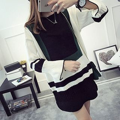 FR - Color Block Long-Sleeve Tunic