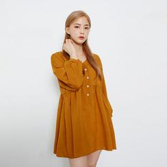 Envy Look - Long-Sleeved Empire Mini Dress