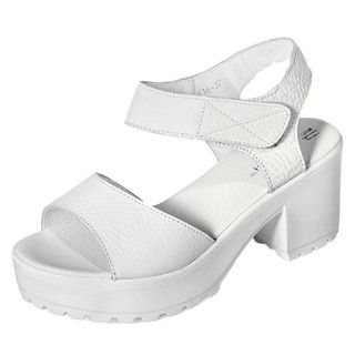 yeswalker - Genuine Leather Velcro Platform Sandals