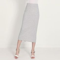 Stylementor - Banded-Waist Midi Pencil Skirt