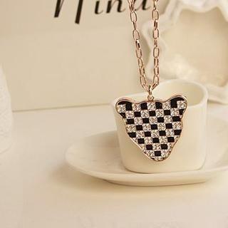 Love Generation - Rhinestone Leopard Necklace
