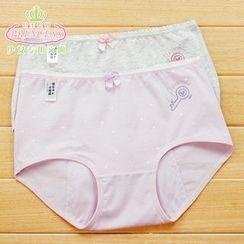Rikku - Set of 2: Key Print Menstruation Panties