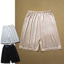 Milu Milu - Lace Trim Under Shorts