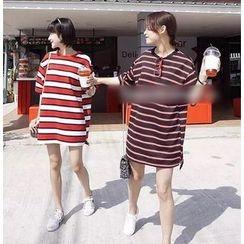 Bloombloom - Stripe T-Shirt Dress