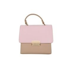 DABAGIRL - Two-Tone Flap Satchel