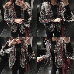 DISCOSALON - Faux-Pearl Tweed Jacket