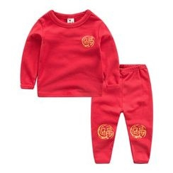 DEARIE - 兒童家居服套裝: 印花套衫 + 長褲
