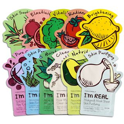 Tony Moly - Variety Pack -  I'm Real Mask Sheet - 11 Flavors