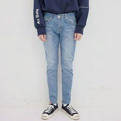 Seoul Homme - Washed Tapered Jeans