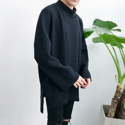 Chuoku - Mock Neck Knit Top