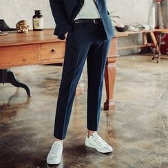 MEOSIDDA - Pocket-Side Tapered Dress Pants