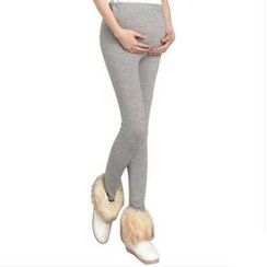 NEUF - 孕婦純色內搭褲
