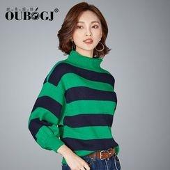 OUBO - 高領燈籠袖毛衣
