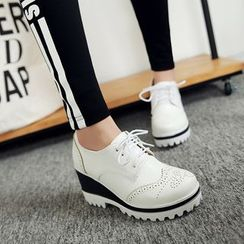 Pretty in Boots - Contrast Brogue Oxfords