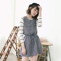 Tokyo Fashion - Drawstring Sleeveless Dress