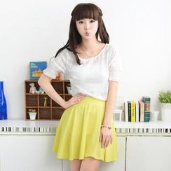 59 Seconds - Set: Short-Sleeve Top + Bandeau + A-Line Skirt