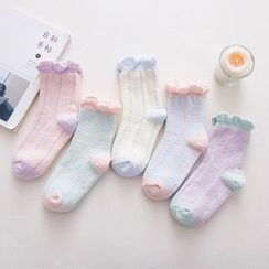 NANA Stockings - Striped Fleece Socks