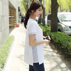 CLICK - 棉質條紋 T 恤