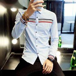 maxhomme - Contrast Trim Shirt