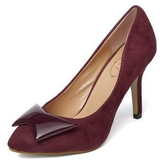 yeswalker - Faux Suede Patent Stiletto Pumps