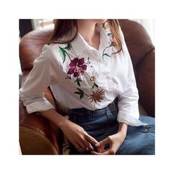 MASoeur - Embroidered Floral Shirt