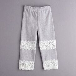Kidora - Kids Lace Panel Leggings