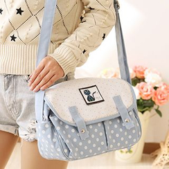 Canvas Love - Dotted Canvas Satchel