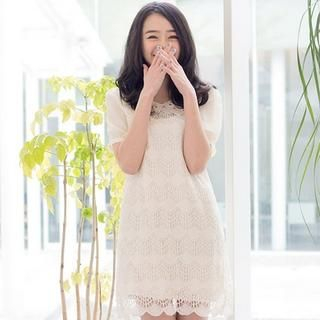CatWorld - Eyelet-Collar Lace Dress