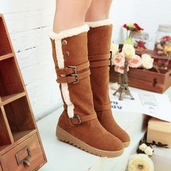 YOUIN - Two-Way Buckled Tall Boots