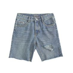 Chuoku - Distressed Denim Shorts