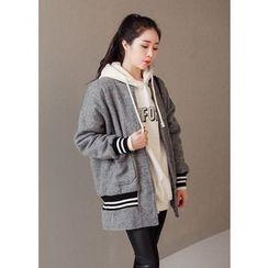 J-ANN - Wool Blend Zip Jacket