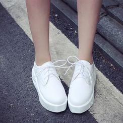JY Shoes - Platform Lace Up Sneaker
