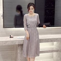 Romantica - 3/4-Sleeve Lace Dress